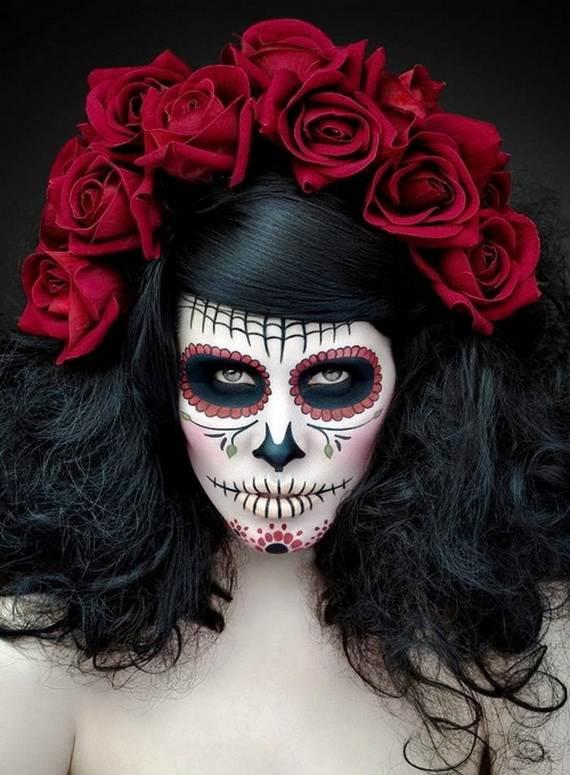 Halloween-Best-Calaveras-Makeup-Sugar-Skull-Ideas-for-Women (33)