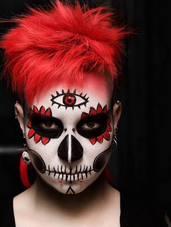 Halloween-Best-Calaveras-Makeup-Sugar-Skull-Ideas-for-Women (37)