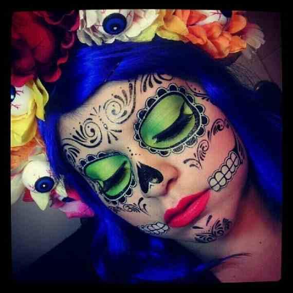 Halloween-Best-Calaveras-Makeup-Sugar-Skull-Ideas-for-Women (4)