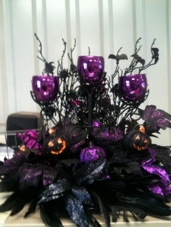 Halloween Wedding Centerpiece Ideas _37