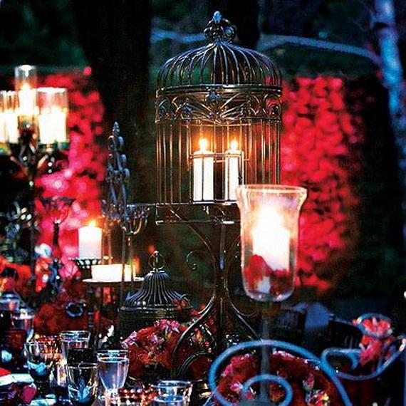 Halloween Wedding Centerpiece Ideas _57