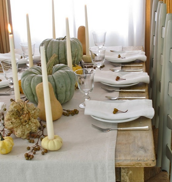 Delightful Thanksgiving Decorating Ideas Wooden Dining Table Can