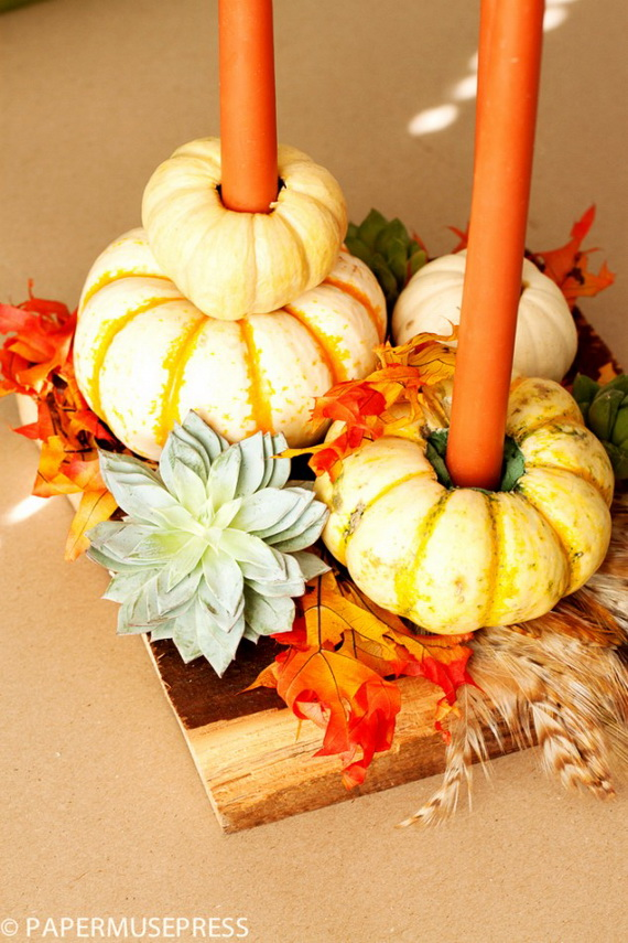 Simple and Easy Thanksgiving Centerpiece Ideas Using Candles_25