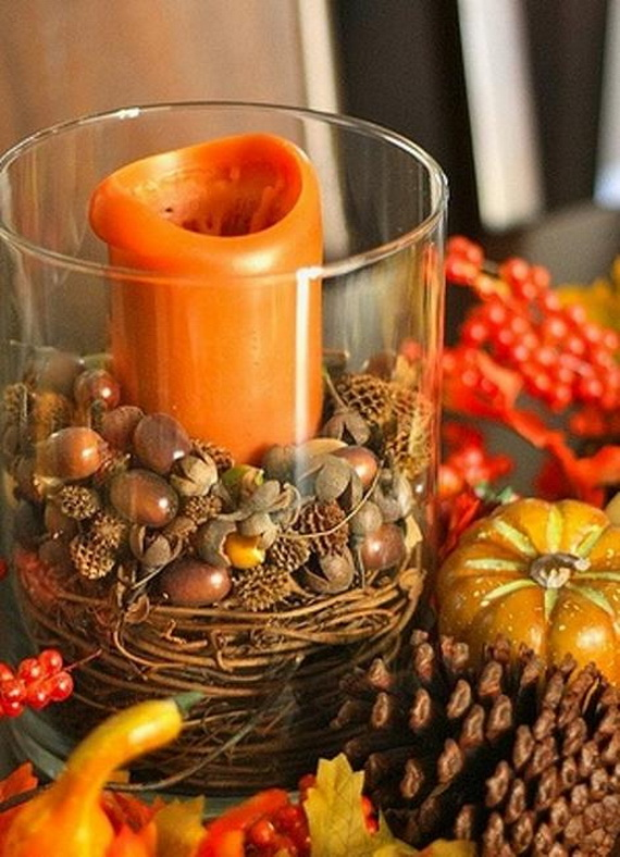 Simple and Easy Thanksgiving Centerpiece Ideas Using Candles_28