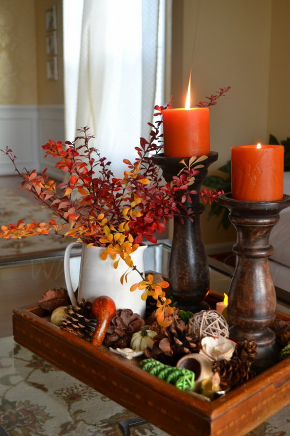 Simple and Easy Thanksgiving Centerpiece Ideas Using Candles_46