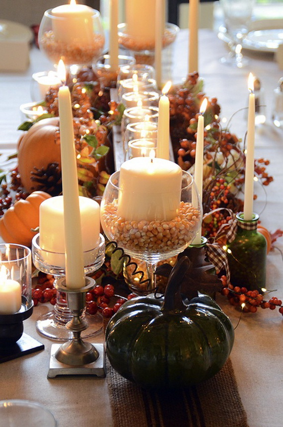 Simple and Easy Thanksgiving Centerpiece Ideas Using Candles_54