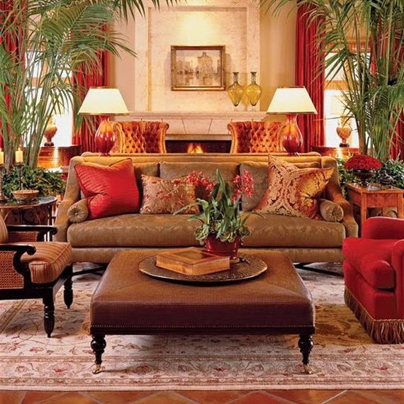 Amazing Red Interior Designs For The Holidays_09