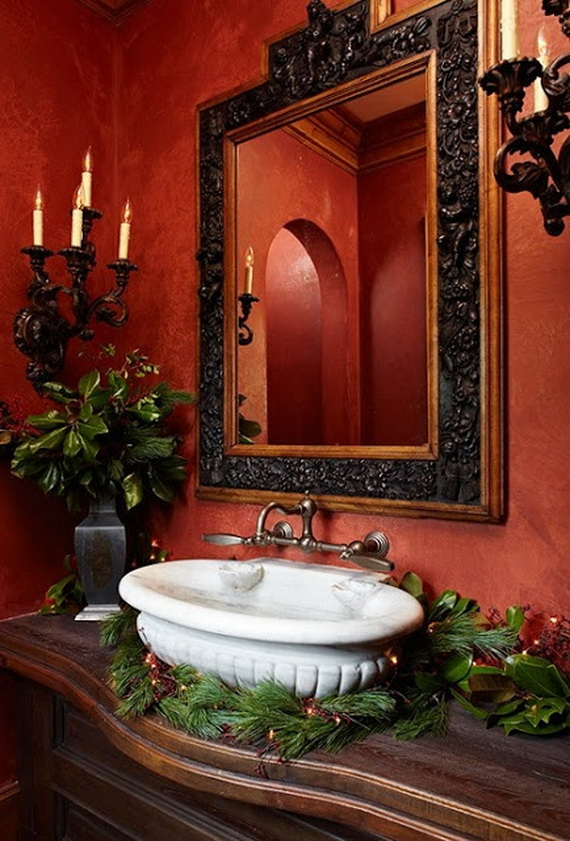Amazing Red Interior Designs For The Holidays_10