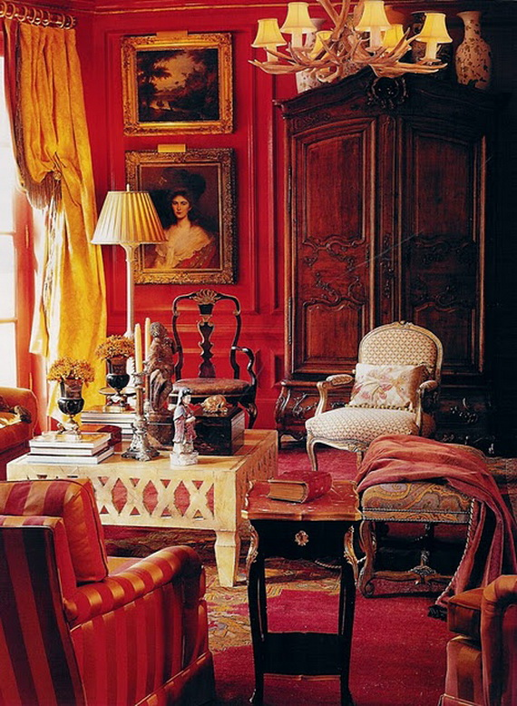 Amazing Red Interior Designs For The Holidays_11