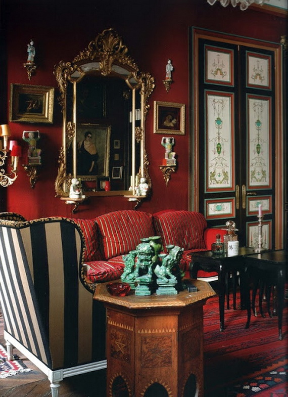 Amazing Red Interior Designs For The Holidays_12