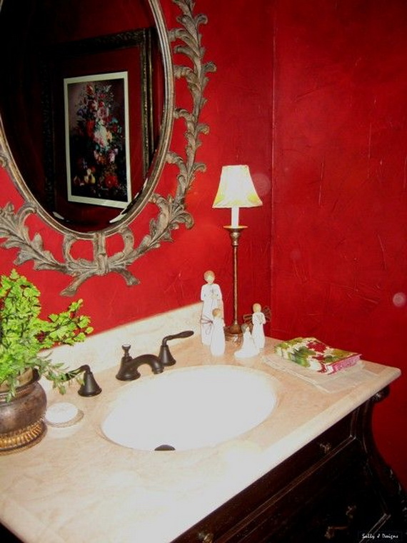 Amazing Red Interior Designs For The Holidays_13