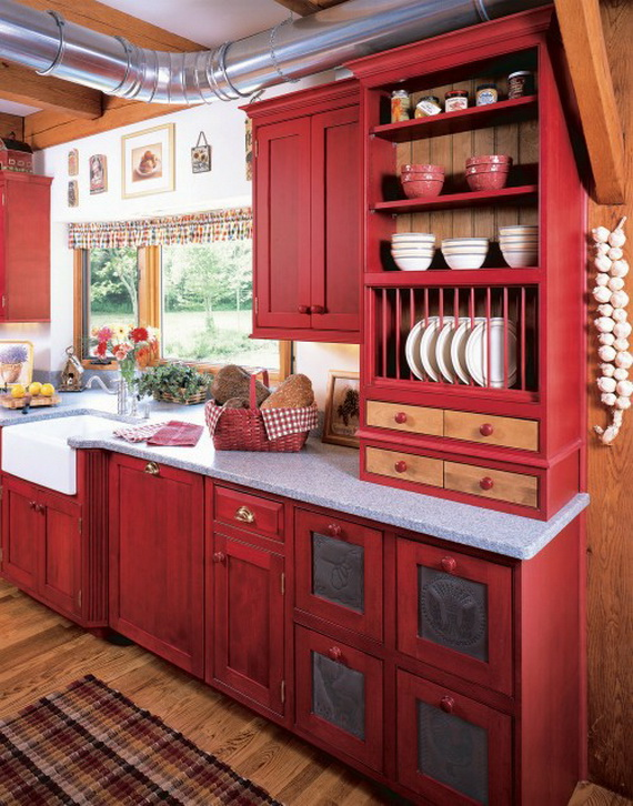 Amazing Red Interior Designs For The Holidays_17