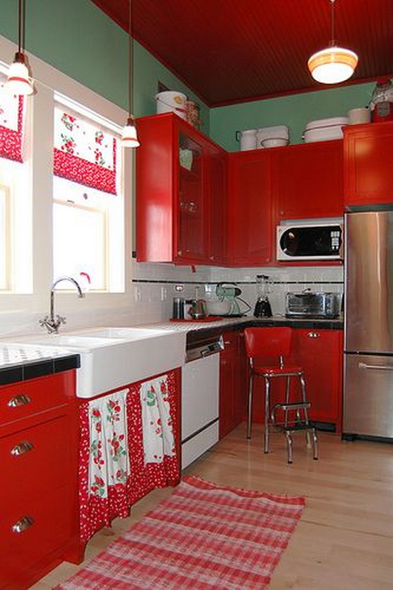 Amazing Red Interior Designs For The Holidays_21