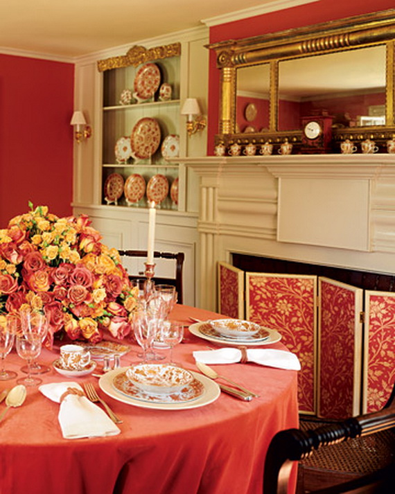 Amazing Red Interior Designs For The Holidays_28