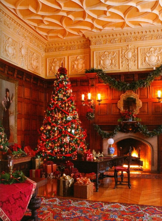 Amazing Red Interior Designs For The Holidays_35