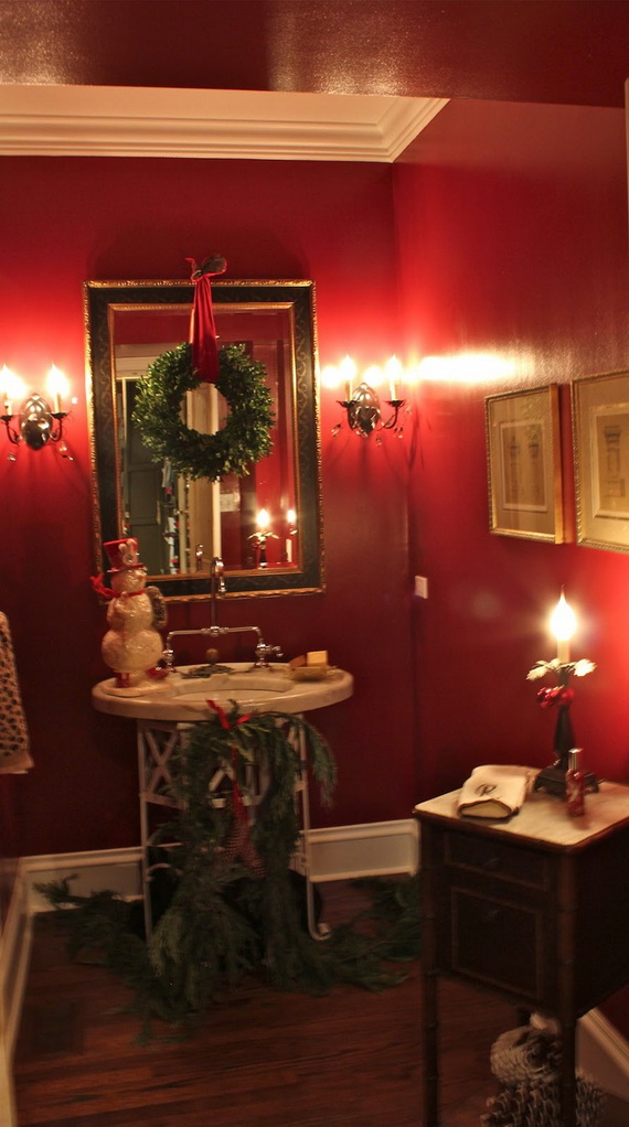 Amazing Red Interior Designs For The Holidays_36