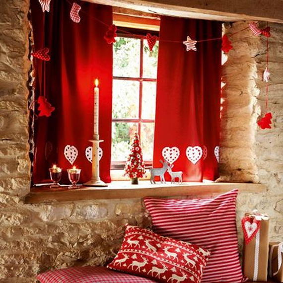 Amazing Red Interior Designs For The Holidays_43