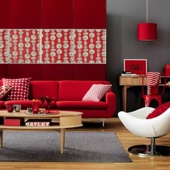 Amazing Red Interior Designs For The Holidays_59