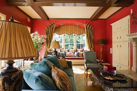 Amazing Red Interior Designs For The Holidays_60