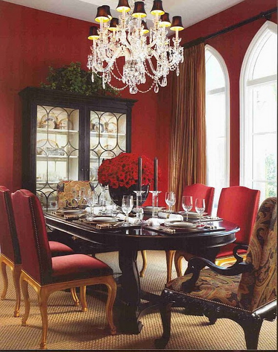 Amazing Red Interior Designs For The Holidays_62