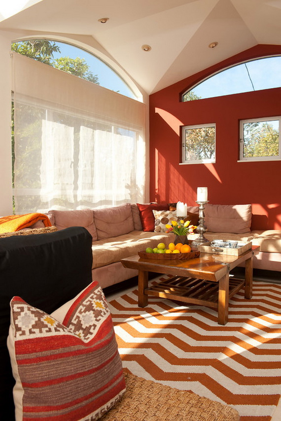 Amazing Red Interior Designs For The Holidays_70