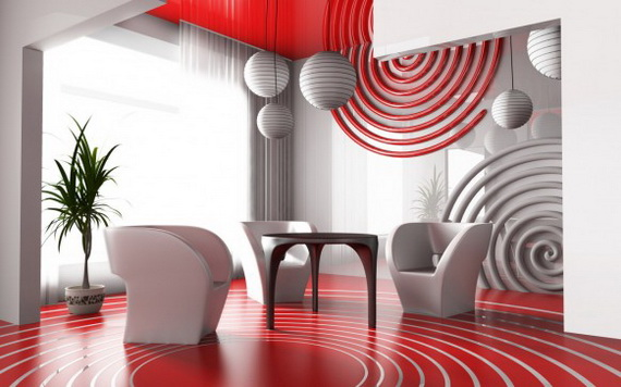 Amazing Red Interior Designs For The Holidays_71