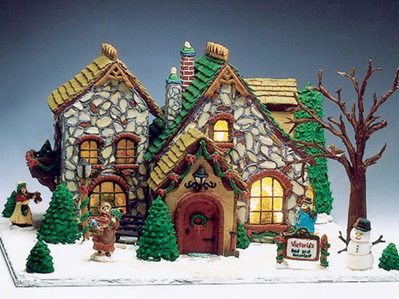 Amazing Traditional Christmas Gingerbread Houses_13
