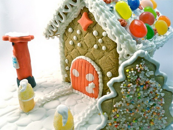 Amazing Traditional Christmas Gingerbread Houses_34