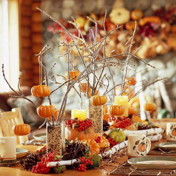 Beautiful Thanksgiving Fall Table Settings And Centerpiece Decor Ideas To Make _07