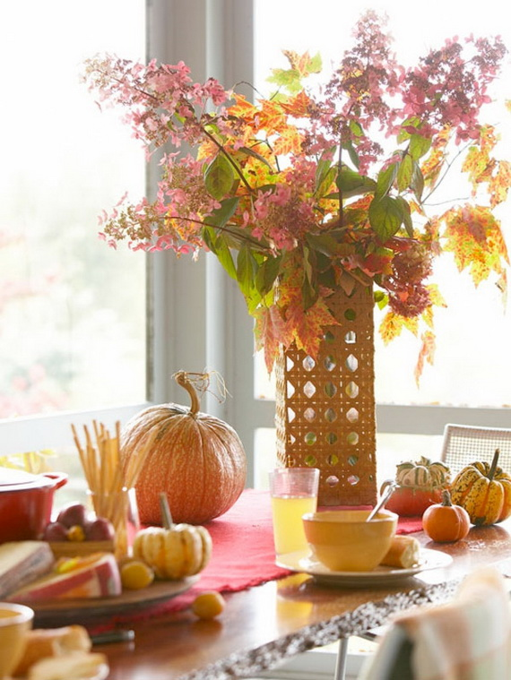 Beautiful Thanksgiving Fall Table Settings And Centerpiece Decor Ideas To Make _11