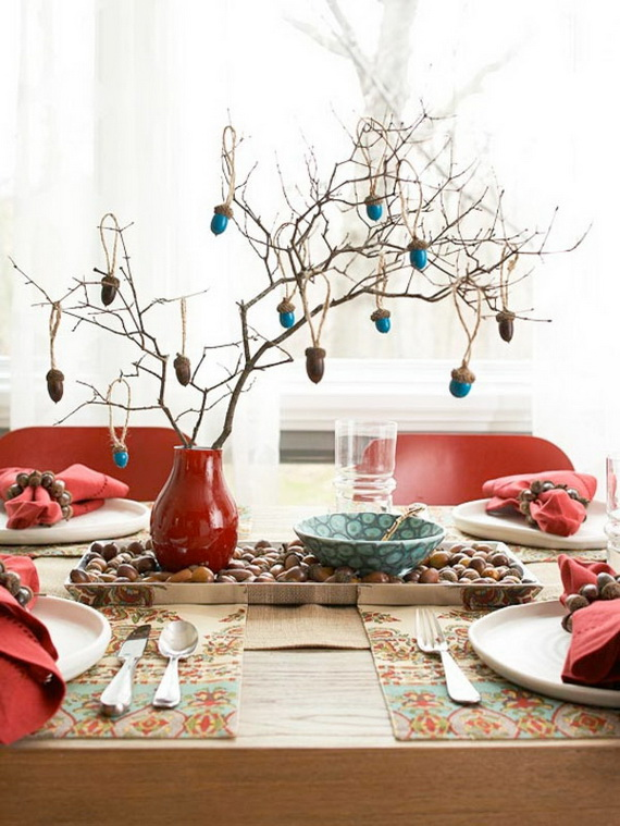 Beautiful Thanksgiving Fall Table Settings And Centerpiece Decor Ideas To Make _14