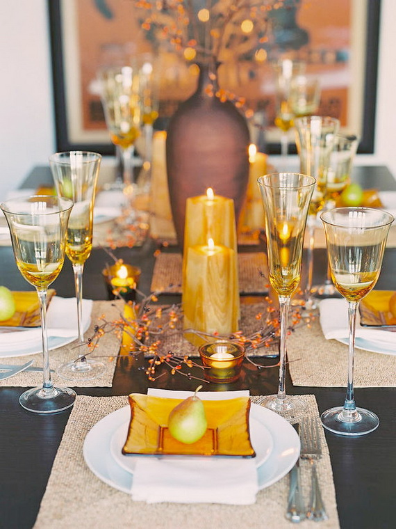 Beautiful Thanksgiving Fall Table Settings And Centerpiece Decor Ideas To Make _18