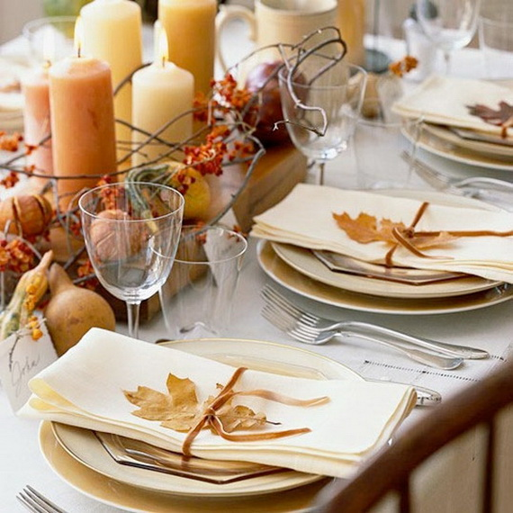 Beautiful Thanksgiving Fall Table Settings And Centerpiece Decor Ideas To Make _25