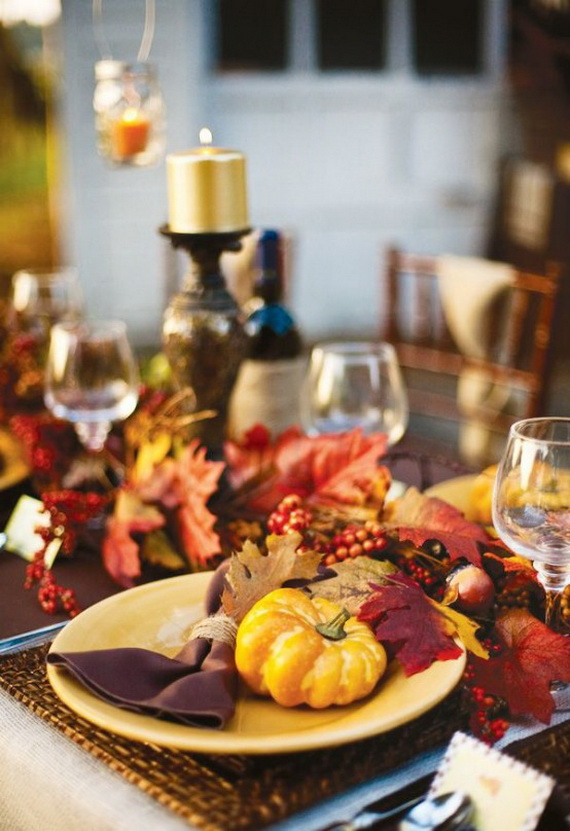 Beautiful Thanksgiving Fall Table Settings And Centerpiece Decor Ideas To Make _29