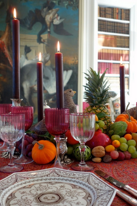 Beautiful Thanksgiving Fall Table Settings And Centerpiece Decor Ideas To Make _32