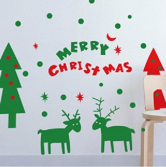 Creative Christmas Decor Ideas with Decals For a Holiday Atmosphere_19