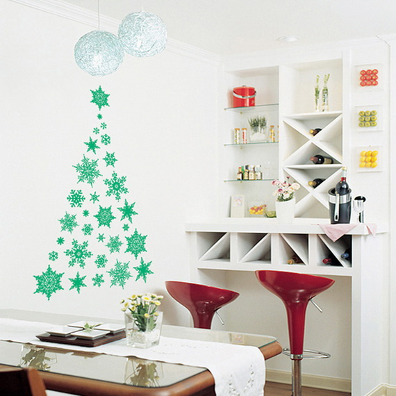 Creative Christmas Decor Ideas with Decals For a Holiday Atmosphere_20