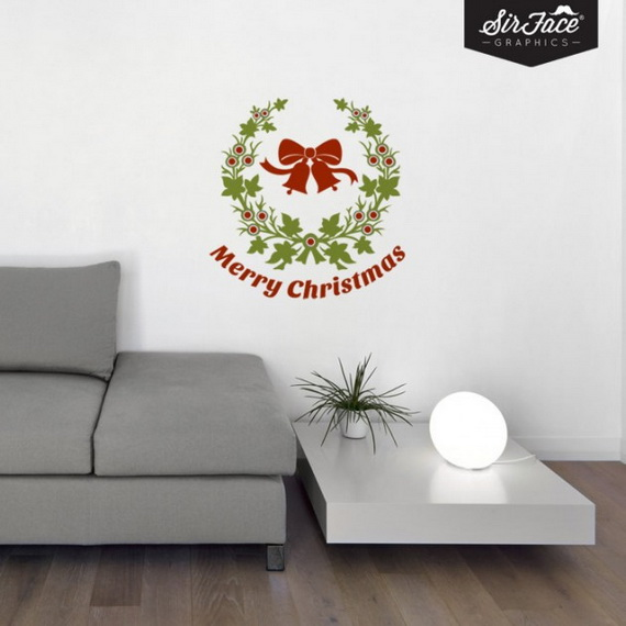Creative Christmas Decor Ideas with Decals For a Holiday Atmosphere_29