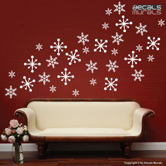 Creative Christmas Decor Ideas with Decals For a Holiday Atmosphere_31