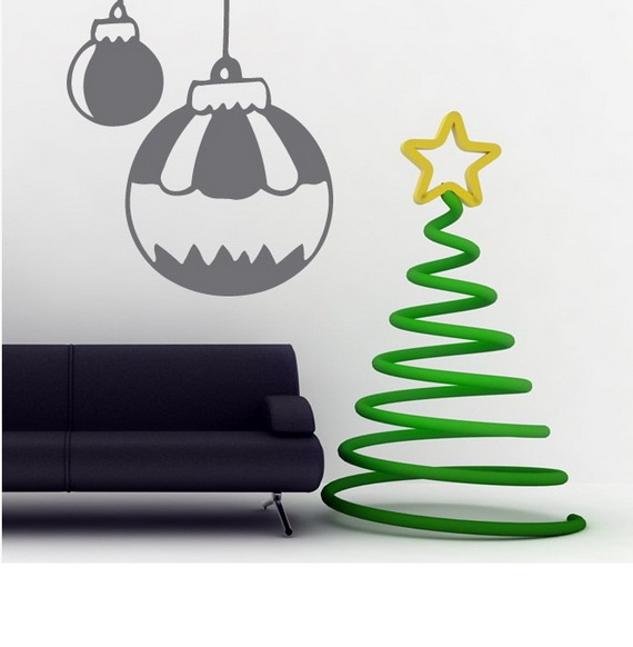 Creative Christmas Decor Ideas with Decals For a Holiday Atmosphere_42