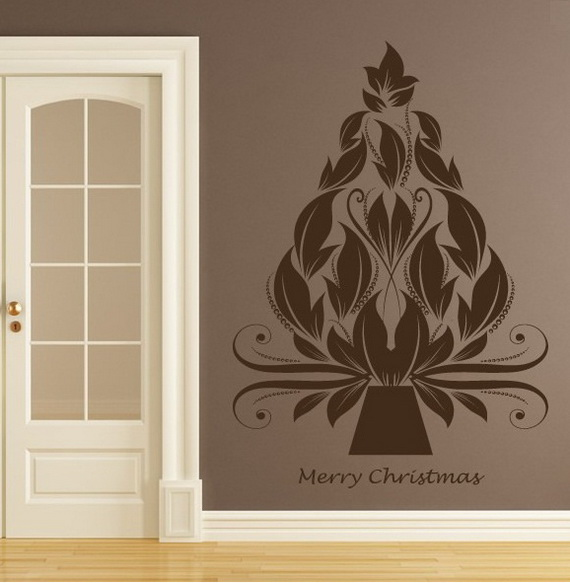Creative Christmas Decor Ideas with Decals For a Holiday Atmosphere_47