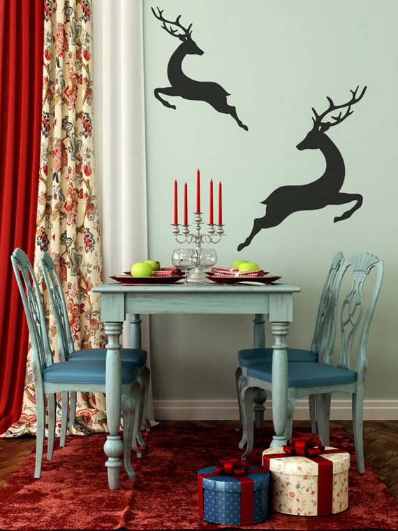Creative Christmas Decor Ideas with Decals For a Holiday Atmosphere_61