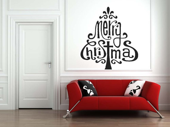 Creative Christmas Decor Ideas with Decals For a Holiday Atmosphere_82