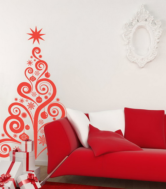 Creative Christmas Decor Ideas with Decals For a Holiday Atmosphere_84