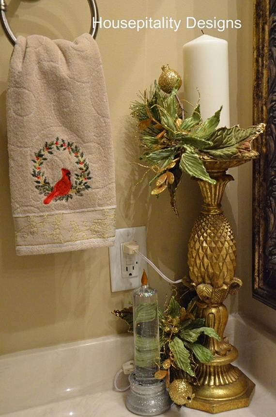 Cute Bathroom Decorating Ideas For Christmas2017 23