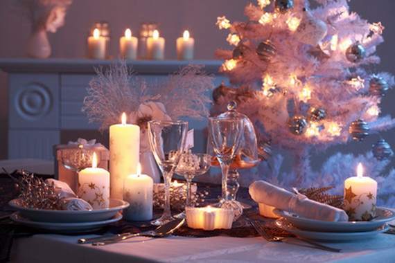Place setting for Christmas