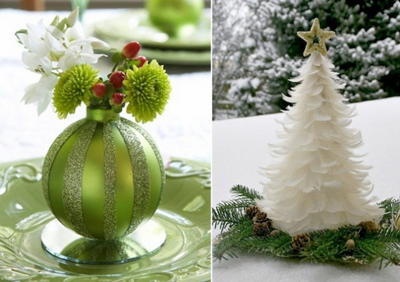 Magnificent Green And White Christmas Decorating Ideas _43
