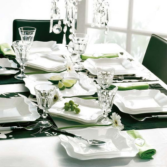 Magnificent Green And White Christmas Decorating Ideas _49
