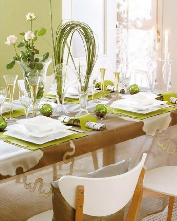 Magnificent Green And White Christmas Decorating Ideas _90