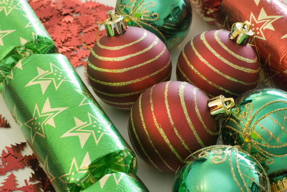 red and green decorations